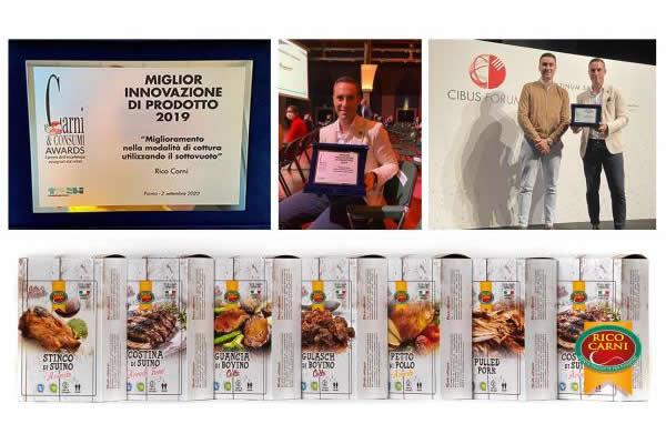 """Cibus Forum 2020: RICO CARNI si aggiudica il premio """"Miglioramento nella modalità di cottura utilizzando il sottovuoto"""""""